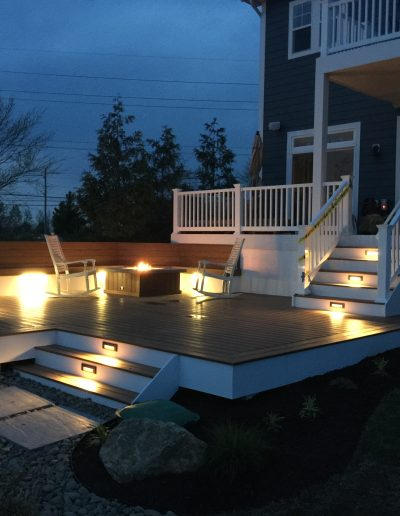 Composite Deck with Custom Fire Pit