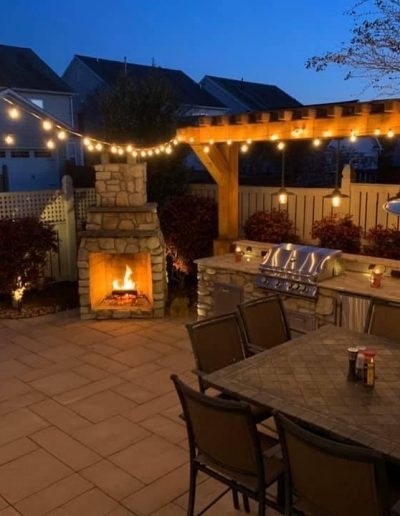 Outdoor Kitchen, Pergola and Fire Place
